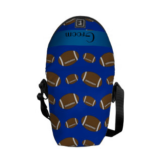 Groom gifts blue football pattern courier bag