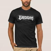 Groom Gothic Lettering Tattoo Wedding Rehearsal T-Shirt