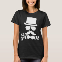 Groom Groomsmen Wedding groom gift Tuxedo Bachelor T-Shirt
