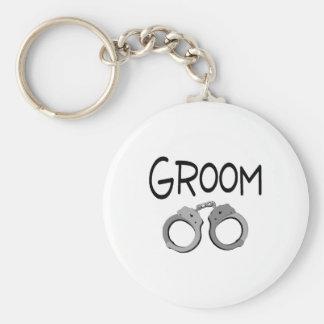 Groom Handcuffs Wedding Keychain