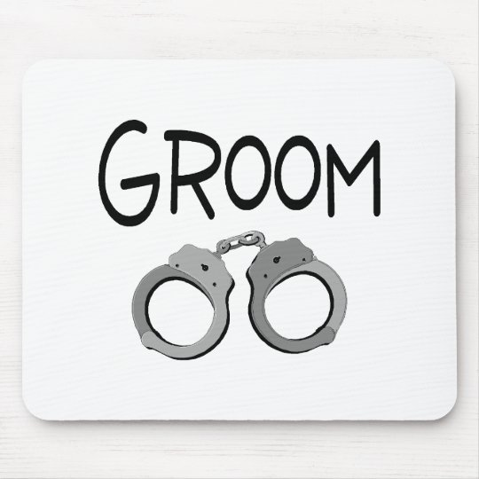 Groom Handcuffs Wedding Mouse Pad