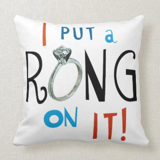 Groom I Put a Ring on It Throw Pillow