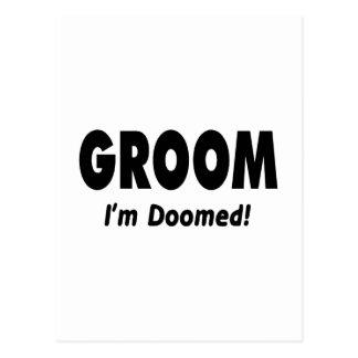 Groom Im Doomed Black Postcard
