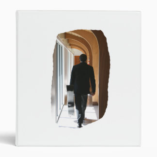 Groom in Black Suit Carrying Guitar From Back 3 Ring Binder