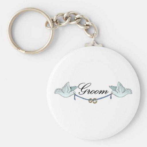 Groom Keychain