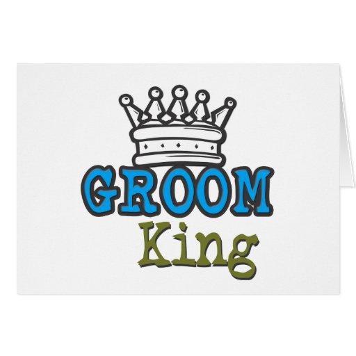 Groom King Greeting Card