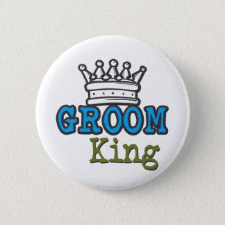 Groom King Pinback Button