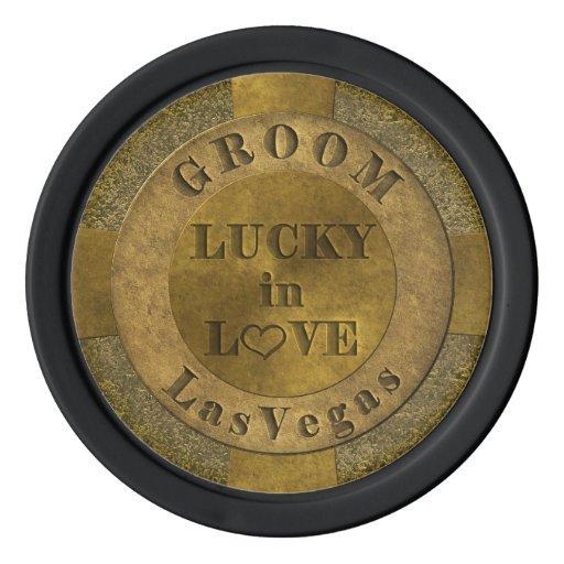 Groom Lucky in Love Las Vegas Poker Chips