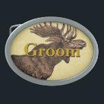 """Groom Moose Belt Buckle<br><div class=""""desc"""">Groom Moose Belt Buckle</div>"""