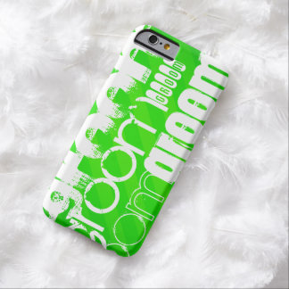 Groom; Neon Green Stripes Barely There iPhone 6 Case