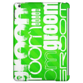 Groom; Neon Green Stripes iPad Air Case