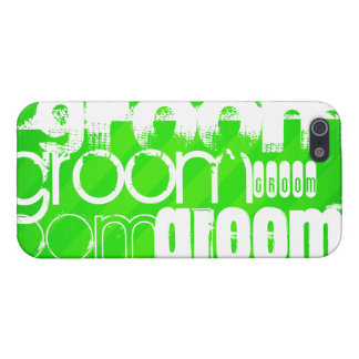 Groom; Neon Green Stripes iPhone 5/5S Covers