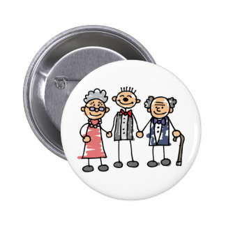 Groom Parents Grandparents Wedding Day Ceremony Button