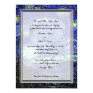 "Groom parents invitation, Starry Night 5.5"" X 7.5"" Invitation Card"