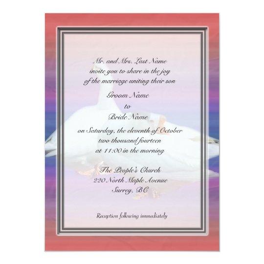 Groom parent's wedding invitations