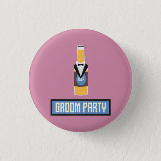 Groom Party Beer Bottle Z77yx Button