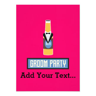 Groom Party Beer Bottle Z77yx Card