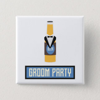 Groom Party Beer Bottle Z77yx Pinback Button