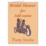 Groom Pillion Biker Wedding  Bridal shower RSVP Card