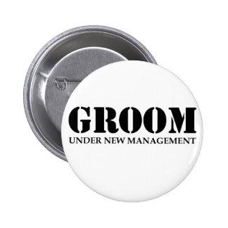 Groom Pinback Button
