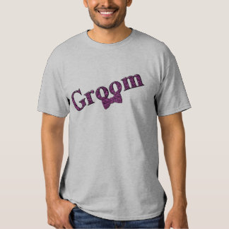 Groom Pink Zebra Print Wedding Party T Shirt