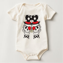 Groom Pirate Skull Black Baby Bodysuit