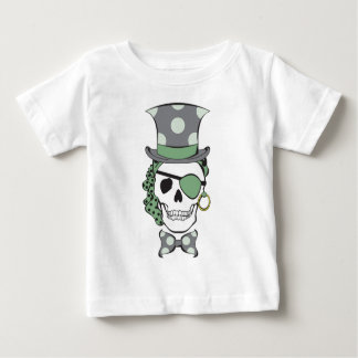 Groom Pirate Skull Green Baby T-Shirt