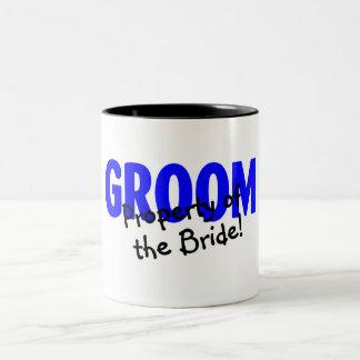 Groom Property Of The Bride Two-Tone Coffee Mug