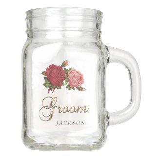 Groom - Roses Mason Jar