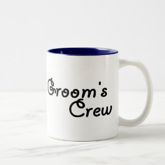 "Groom""s Crew Two-Tone Coffee Mug"