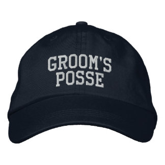 Groom s Posse Embroidered Ball Cap Embroidered Baseball Cap