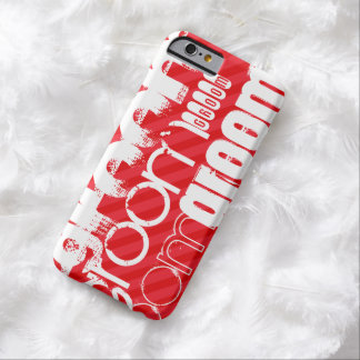 Groom; Scarlet Red Stripes Barely There iPhone 6 Case