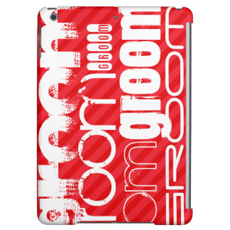 Groom; Scarlet Red Stripes iPad Air Cover