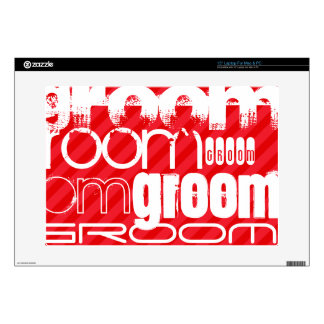 Groom; Scarlet Red Stripes Laptop Skins