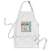 Groom Sentiments Wedding Adult Apron