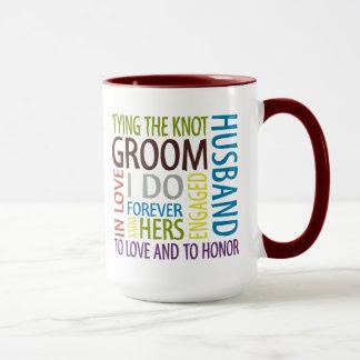 Groom Sentiments Wedding Mug