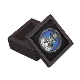 Groom Skull - Blue Premium Trinket Box