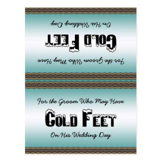 Groom Socks Cold Feet Postcard