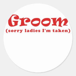 Groom Sorry Ladies Im Taken Classic Round Sticker