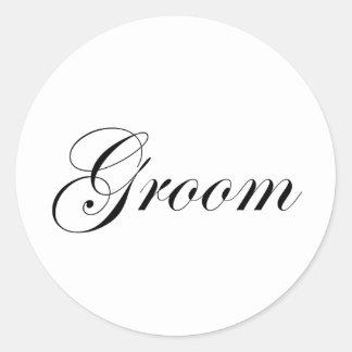 Groom Round Stickers