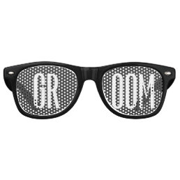 Groom Sunglasses Cool Modern Black and White