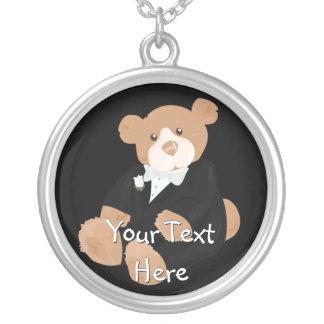Groom Teddybear Necklace