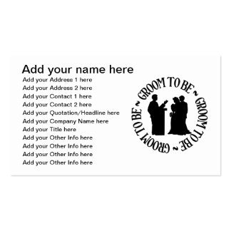 Groom to be business card