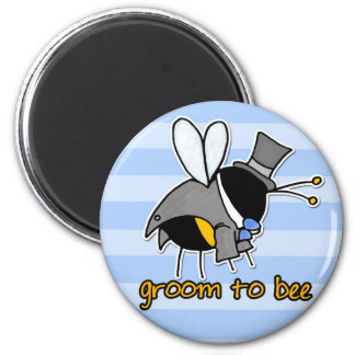 groom to bee 2 inch round magnet