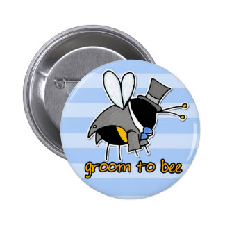 groom to bee button
