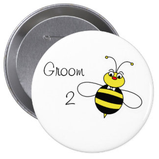 Groom to Bee Pinback Button