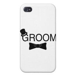 Groom Top Hat Bowtie Case For iPhone 4