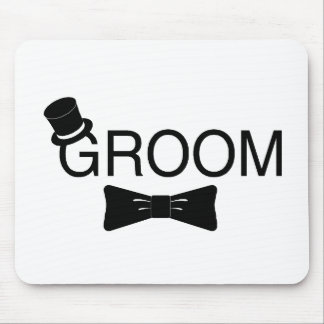 Groom Top Hat Bowtie Mouse Pad