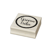 Groom Tribe Heart Rubber Stamp