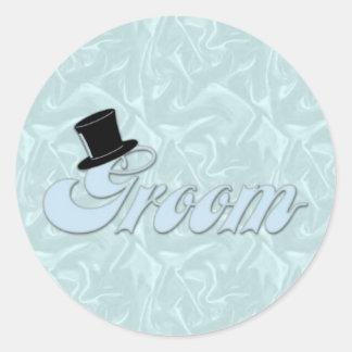 Groom Turquoise Silk Stickers